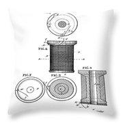Thread Spool Patent 1877  Throw Pillow