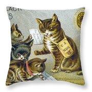 Thread Trade Card, 1880 Throw Pillow
