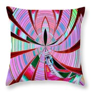 Threading The Needle Throw Pillow