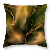 Threads And Spears Throw Pillow