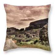 Threatening Skies Throw Pillow