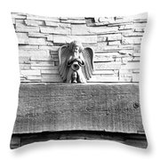 Three Angels On A Mantel Throw Pillow