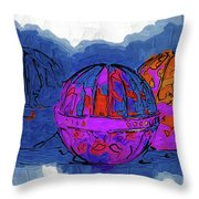 Three Balls Throw Pillow