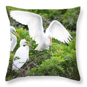 Three Birds Of A Feather Flock Together Throw Pillow