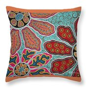 Three Blooms Throw Pillow