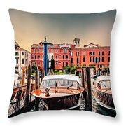Three Boats Throw Pillow