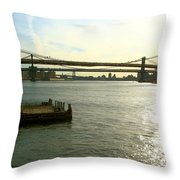 Three Bridges Throw Pillow