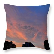 Three Buildings And Sky  Throw Pillow