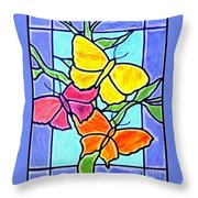 Three Butterflies Throw Pillow