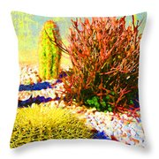 Three Cacti Throw Pillow