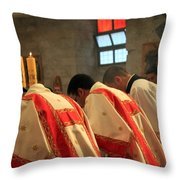 Three Candles Throw Pillow
