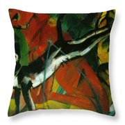 Three Cats 1913 Throw Pillow