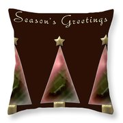 Three Christmas Trees Throw Pillow