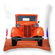 Three Colored Cars Throw Pillow