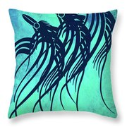 Three Crows Contemporary Minmalism Throw Pillow