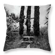 Three Cypresses Throw Pillow