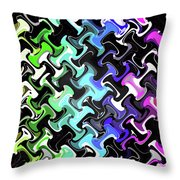 Three-d Dimensional Abstract Design Throw Pillow
