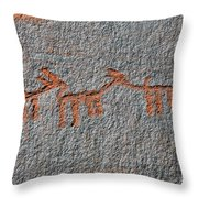 Three Deer Throw Pillow
