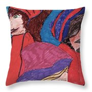 Three Directions Throw Pillow