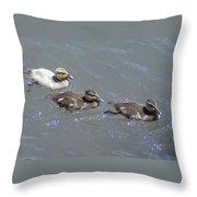Three Duckies  Throw Pillow