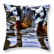 Three Ducks  Throw Pillow