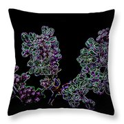 Three Electric Liliacs Throw Pillow
