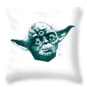 Three Eyed Yoda Throw Pillow