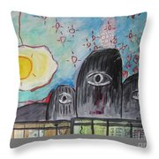 Three Eyes Throw Pillow