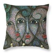 Three Faces  2015 Throw Pillow