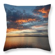 Three Fiery Clouds Throw Pillow