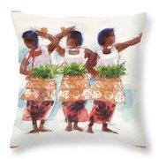 Three Fijian Dancers Throw Pillow