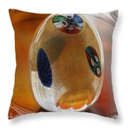 Three Fiori Murano Throw Pillow