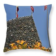 Three Flags In Memphis Tennessee Throw Pillow
