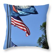 Three Flags Throw Pillow