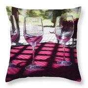 Three For Wine Throw Pillow