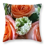 Three From The Heart Throw Pillow