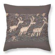 Three Goats Throw Pillow
