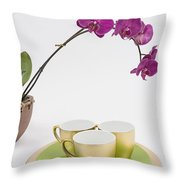Three Gold Cups Throw Pillow