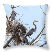 Three Herons Throw Pillow