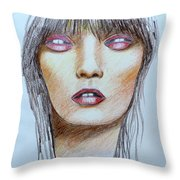 Three Kisses Throw Pillow