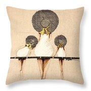 Three Ladies On A Dock  Throw Pillow