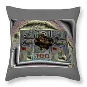 Three Legged Frog Bringing Luck And Wealth Throw Pillow
