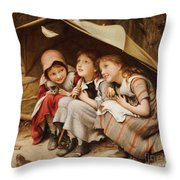 Three Little Kittens Throw Pillow