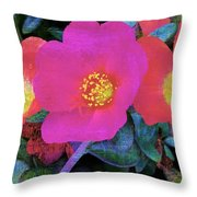 Three Lovely Flowers Throw Pillow