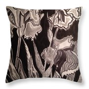 Three Loves In The Dark Throw Pillow