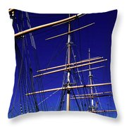 Three Mast Sailing Rig Throw Pillow