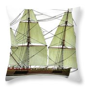 Three Masts Commercial 1760 Throw Pillow