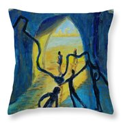 Three Moments. Second Moment Walking And Dancing Throw Pillow