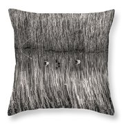 three musketeers BW Throw Pillow
