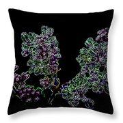 Three Neon Lilacs Throw Pillow